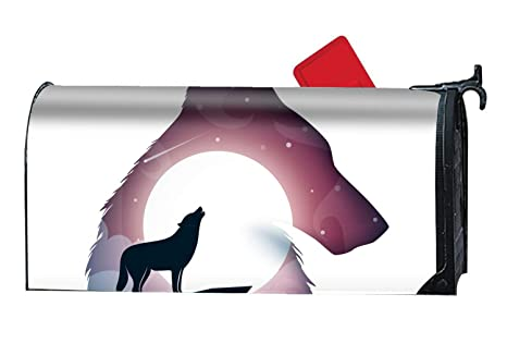 4bc9972986ba Amazon.com  Verna Christopher Wolf Landscape Custom Magnetic Mailbox ...