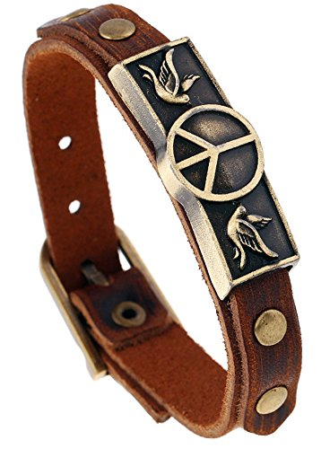 Hamoery Leather Buckle Bracelet Bangle