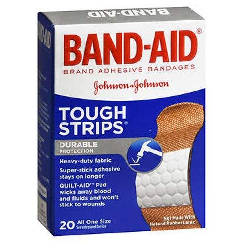 B-A Flex Fab Tough Strips Size 20ct Band-Aid Flexible Fabric Tough Strips