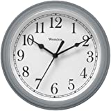 "Nyl Holdings Llc 46984 ""Westclock"" Quartz Movement Round Wall Clock 9"", Silver"