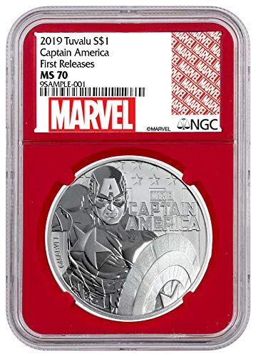2019 TV 2019 TV Captain America Silver Marvel Series $ Coin FR Re $1 MS70 NGC 1 Dollar MS70 NGC