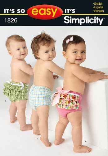 Simplicity Sewing Pattern 1826 Babies' Diaper Cover in Three Sizes (Sewing Diaper Covers)