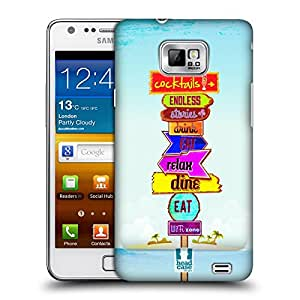 Head Case Designs Food Beach Signs Hard Back Case Cover for Samsung Galaxy S2 II I9100