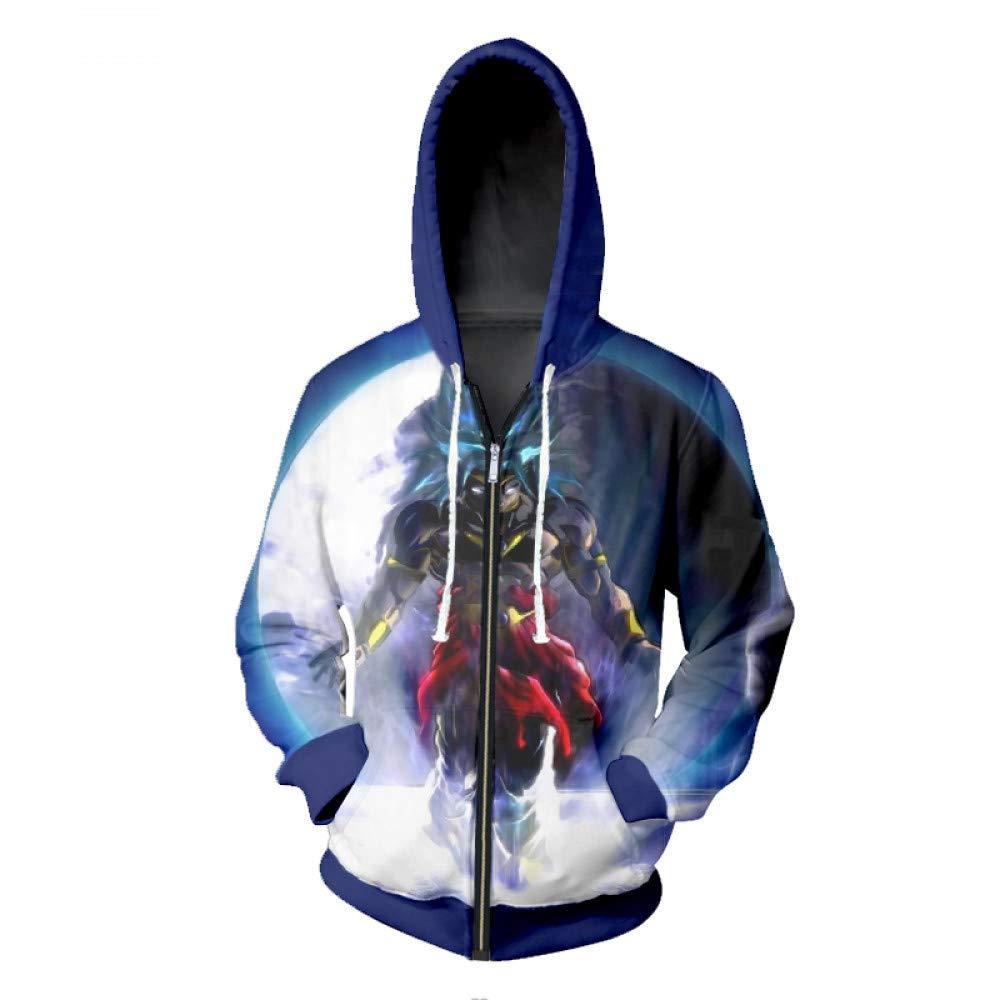 Ai Ya-weiyi Anime Zipper Hoodies Frühling Männer Lustig Drucken Dragon Ball 3D-Sweatshirt Hoody Männlichen Hip Hop Hooded Pullover Trainingsanzug Jumper