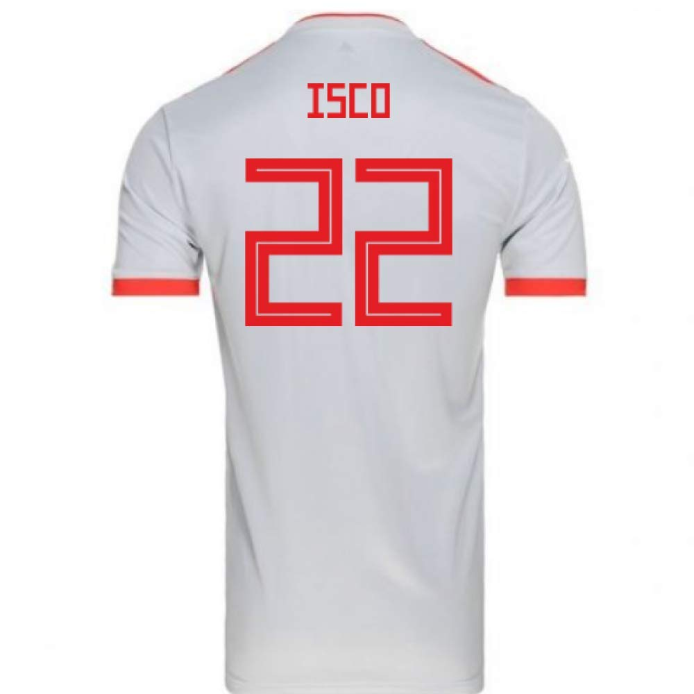 第一ネット 2018-2019 Spain Away XS Spain Adidas Football Shirt (Isco - 22) B07H9SJLR8 XS - 34-36