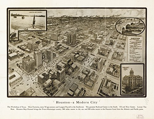 Map: 1912 Houston--a modern city|Houston|Houston|Texas|, used for sale  Delivered anywhere in USA