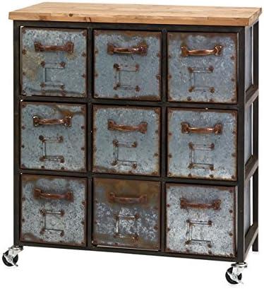Imax 89111 Holloway Nine Drawer Cabinet, Large