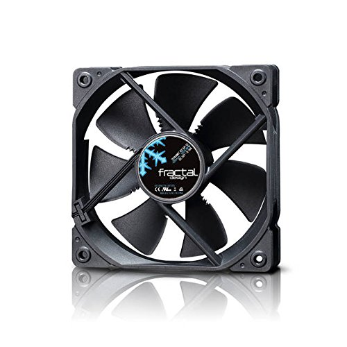 Fractal Design Dynamic X2 PWM GP-12 120mm High Durability Long Life Sleeve Bearing Black Edition Radiator Optimized Computer Case Fan