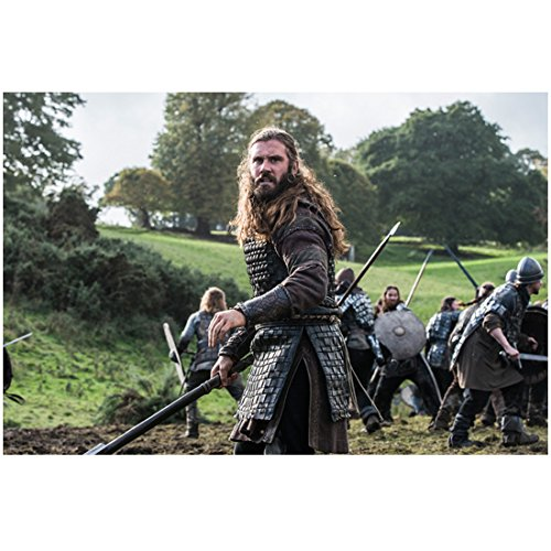 Vikings Clive Standen as Rollo Fighting on Battlefield in Armor 8 x 10 Photo