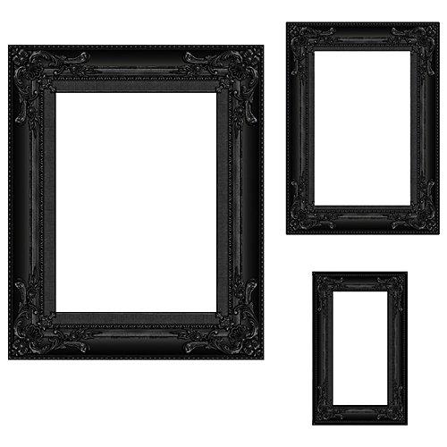 Black Frame Photo Prop Set of 3 by Shindigz