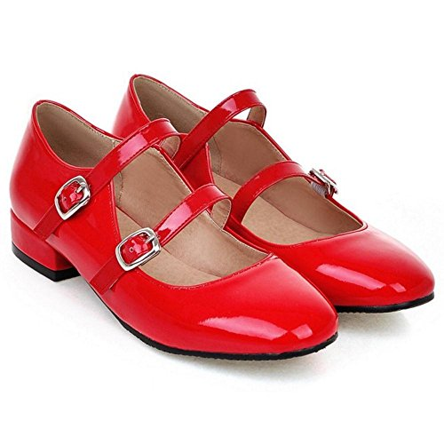 Red Basso Donna TAOFFEN Moda Tacco Scarpe Tacco con qBwRwvWg07