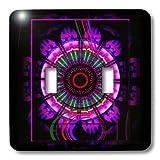 3dRose lsp_24835_2 Mandala 6 Glowing Blue Red Black Meditation Harmony Balance Peace Newage Spiritual Spirituality Double Toggle Switch