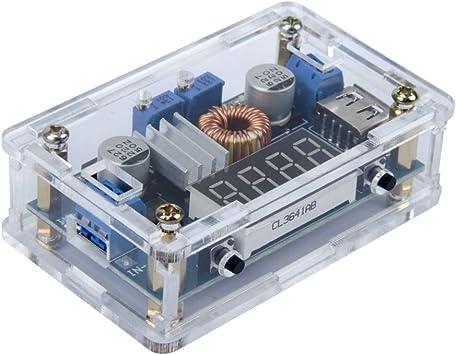 Convertidor DC-DC M/ódulo de Fuente de Alimentaci/ón Reductor Regulador de Voltaje Buck Convertidor 4-32V a 1.2-32V Convertidor de Tensi/ón de Voltaje
