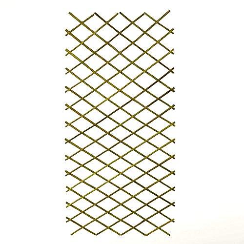 Weidenrankgitter Pflanzgitter Spalier, ausziehbar (180 x 60 cm), Farbe:Grün