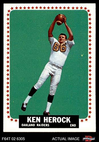 Raiders Ken Oakland (1964 Topps # 141 Ken Herock Oakland Raiders (Football Card) Dean's Cards 6 - EX/MT Raiders)