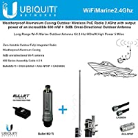 Long Range Wi-Fi Marine Outdoor Antenna Kit 2.4Ghz 600mW High Power 5 miles