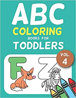 Abc Coloring Books For Toddlers Vol 4 A To Z Coloring Sheets