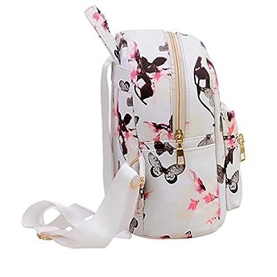 Women Girls Mini Backpack Fashion Causal Floral Printing Leather Bag | Kids' Backpacks
