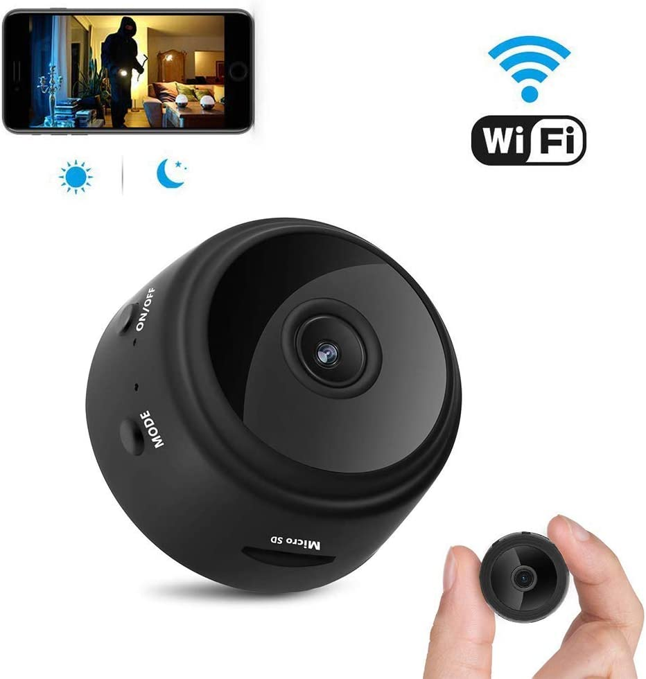 Spy Camera, Hidden Camera, Wireless WiFi Camera, HD 1080P Mini Camera Portable Home Security Cameras Covert Nanny Cam Indoor Video Recorder Small Camcorder with Motion ActivatedNight Vision A10 Plus