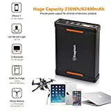 Enegitech 62400mAh 100W Laptop Power Bank Battery Portable Generator Power Station with DC Outlet, 4 USB Ports, Type C Port, Car Cigarette Port, Can be Charged by Solar Panel/Car Charger/AC Adapter