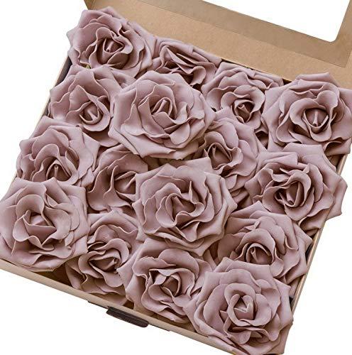 Gatton 16pcs Large Dusty Rose Antique Roses for DIY ding Bouquets Arrangements Centerpieces Decor | Model WDDNG - 1382 | 4 inches