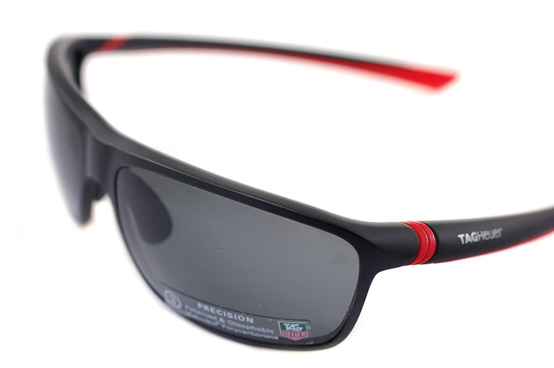 39ab8fd1d6 TAG HEUER 27 DEGREE POLARIZED 6023 902 Men Sport Sunglasses NOIR ROUGE GRIS  POLIRASANT   MATTE BLACK RED GREY  Amazon.co.uk  Sports   Outdoors
