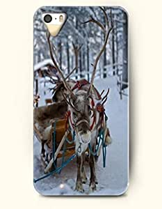 OOFIT iPhone 5 5s Case - Deer Sled In The Snow