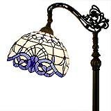 Tiffany Style Reading Floor Lamp Table Desk Lighting Blue Baroque Shade W12H64 E26
