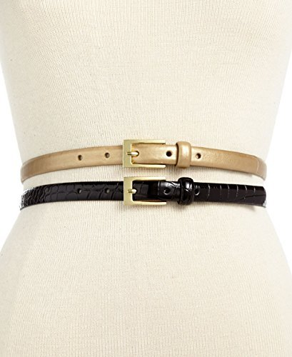 Style & co. 2 for 1 Croco Patent Belt