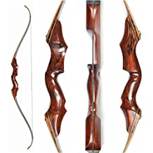 Toparchery Archery Takedown Recurve Bow 40lb Wood Hunting Longbow for Hunting Target Practice Right Hand