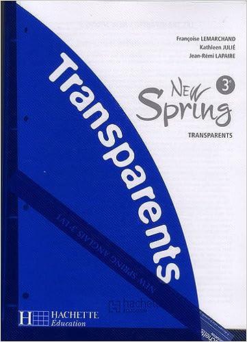 Livre gratuits en ligne Anglais 3e New Spring : Transparents epub pdf