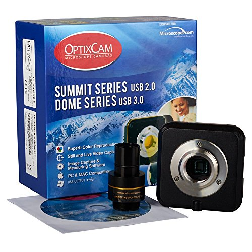 Summit SK2-3.1X - 3.1MP - Digital USB 2.0 Microscope Camera - PC/MAC Compatible - Image Capture Software - Measuring Software (PC only) - C-Mount - 23mm Eyepiece Adapter by OptixCam