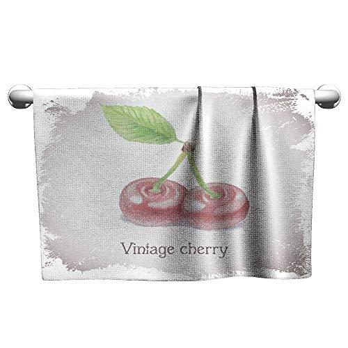- Tankcsard Floral Hand Towels Vintage Card with Cherry,freestanding Towel Racks for Bathroom