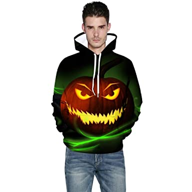 Halloween sweatshirt sweater crewneck Men/'s design Jack o Lantern scary pumpkin