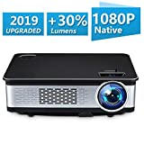 UnlimiTV Native 1080p Full HD Home Theater Video LED Projector- Big Screen,Up to 150 Inch Size,Compatible with TV-Box,Fire TV ROKU Sticks,SD, PS4,Laptop,DVD for Home ,Film,Movie (Black)