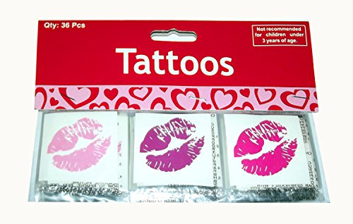 GLITTER KISS TEMPORARY TATTOOS