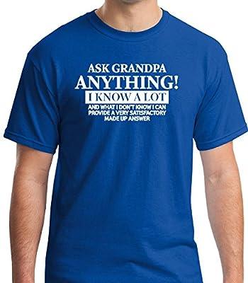 Ask grandpa anything funny premium men's short sleeve tshirt Allure & Grace