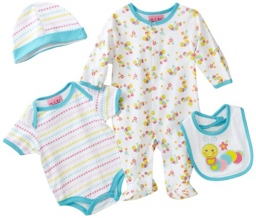 Carters Baby-girls Newborn caterpillar Set With Coverall, Bodysuit, Bib and Hat