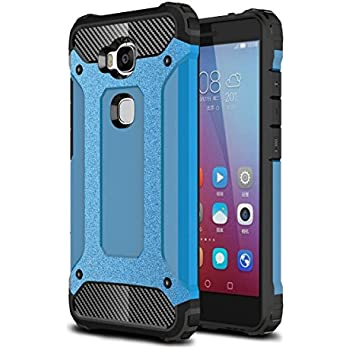 Huawei Honor 5X Case, Torryka Premium Anti-scratch Dual Layer Shockproof Dustproof Drop Resistance Armor Protective Case Cover for Huawei Honor 5 X - Blue