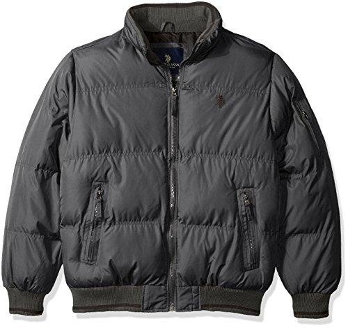 U.S. Polo Assn. Men's Classic Puffer Jacket - Medium - Dark Shadow by U.S. Polo Assn.