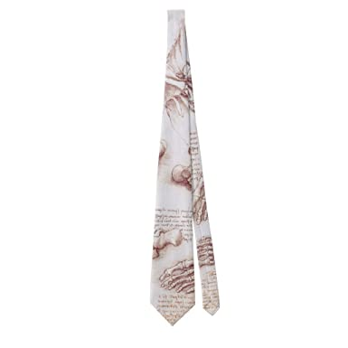 Zazzle Human Anatomy Skeleton Foot Bones By Da Vinci Neck Tie at ...