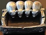 Ashtray Top Estore Art Cartoon Animal Cigarette Pig Shape Personality Birthday Gift (Silver)
