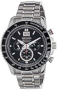 Seiko Sportura - Reloj  de Cuarzo para Hombre, correa de Acero inoxidable color Plateado