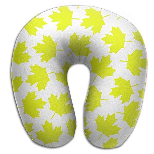 (SARA NELL Memory Foam Neck Pillow Toronto Yellow Maple Leaf U-Shape Travel Pillow Ergonomic Contoured Design Washable Cover For Airplane Train Car Bus Office)
