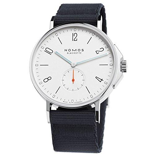 Nomos Ahoi Automatic White Dial Black Textile Strap Mens Watch 550