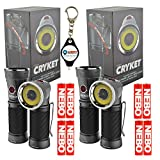 2X Nebo Cryket 6437 LED Work Light Spot Light Red LED Swivel Head with LightJunction Keychain Light