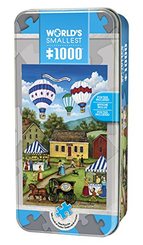 MasterPieces World's Smallest Jigsaw Puzzle Tin, Blueberry Festival, Collectable Box, 1000 Mini Pieces