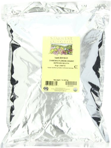 Starwest Botanicals Organic Chamomile Flowers Whole (Croatia), 1 ()