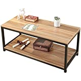 Soges Modern End Table 40 Coffee Table TV Stand Side Table Sofa Table, Oak TVST-OK-100