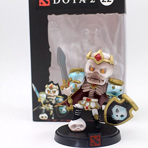 [9 CM, Dota 2 Figure Boxed PVC Action Figures Toy (with Box) (Skeleton King)] (Spiderman 3 Black Suit Costume Replica)
